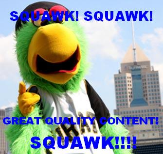 An SEO Parrot Banging on about great quality content