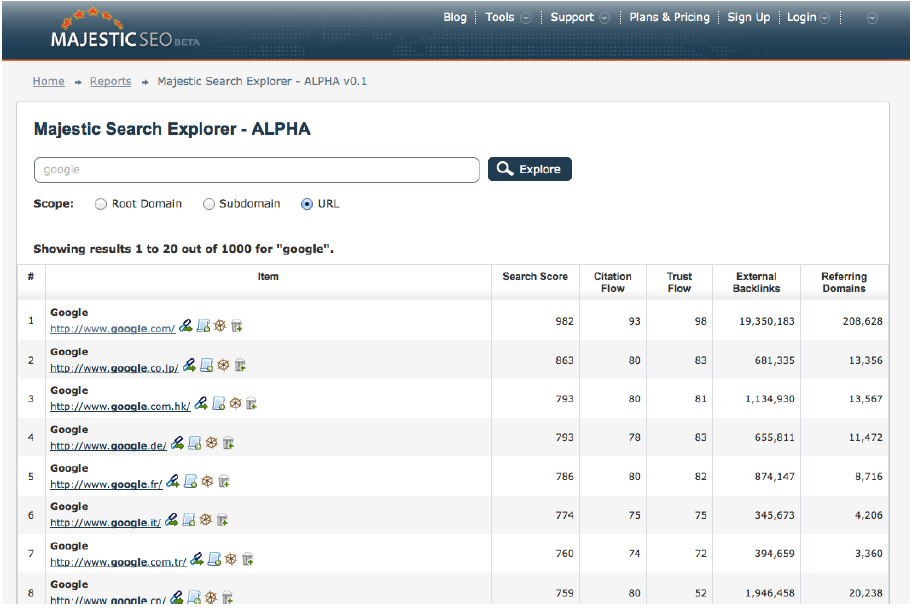 Search Explorer Alpha Preview
